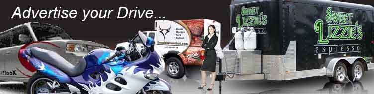 Vehicle Wraps, Vehicle Graphics, Design Services, Clear Bra, Storefront Graphics, On-Site Installations, Vinyl Color Options